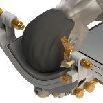 OP Kopfhalter LUCY: 3-Punkt Fixierung mit integrierter Kraftanzeige