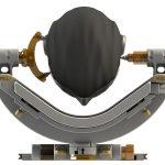 OP Kopfhalter LUCY: Höhenverstellung der unteren Spule
